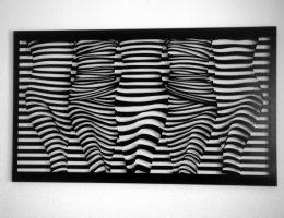 Streifenquintett  74x125 cm