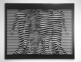 Schaulaufen der Streifen 75x60 cm