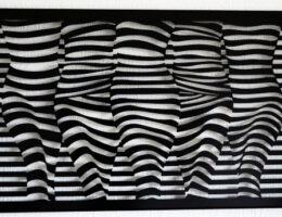 Streifenquintett II, 125 x 69 cm